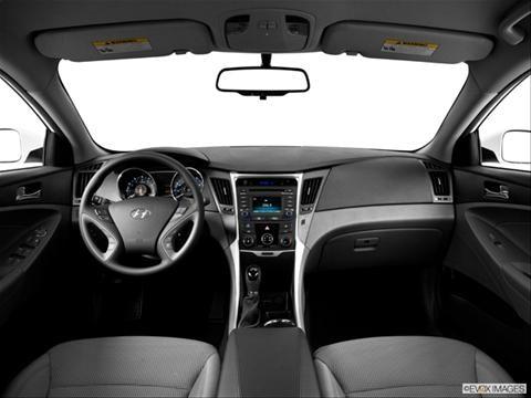 2014 Hyundai Sonata 4-door GLS  Sedan Dashboard, center console, gear shifter view photo