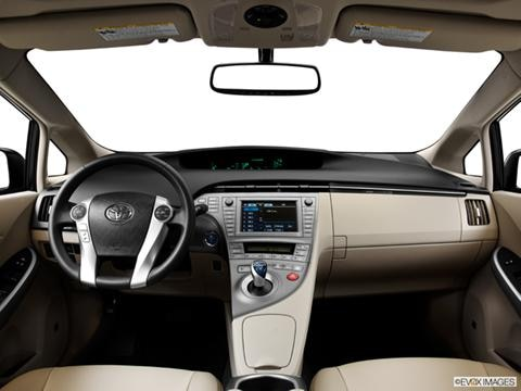 2014 Toyota Prius 4-door Four  Hatchback Dashboard, center console, gear shifter view photo