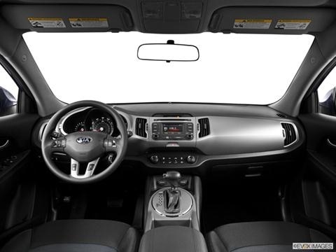 2014 Kia Sportage 4-door LX  Sport Utility Dashboard, center console, gear shifter view photo