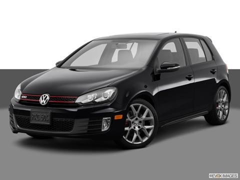 2014 Volkswagen GTI 4-door Wolfsburg Edition  Hatchback Sedan Front angle medium view photo