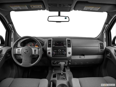 2014 Nissan Frontier Crew Cab 4-door SL  Pickup Dashboard, center console, gear shifter view photo