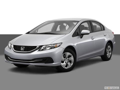 2014 Honda Civic 4-door LX  Sedan Front angle medium view photo
