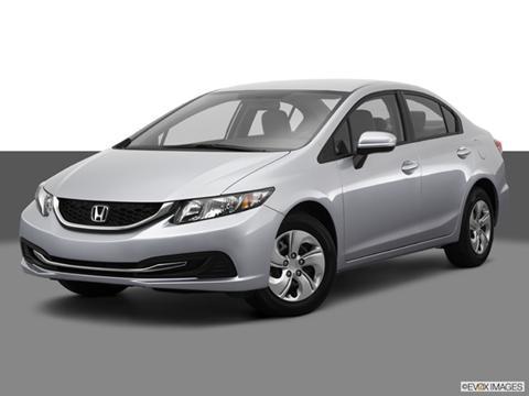 2014 Honda Civic 4-door LX  Sedan Front angle medium view photo
