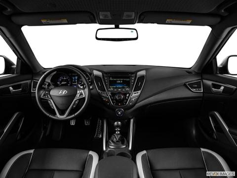 2014 Hyundai Veloster 3-door Turbo  Coupe Dashboard, center console, gear shifter view photo