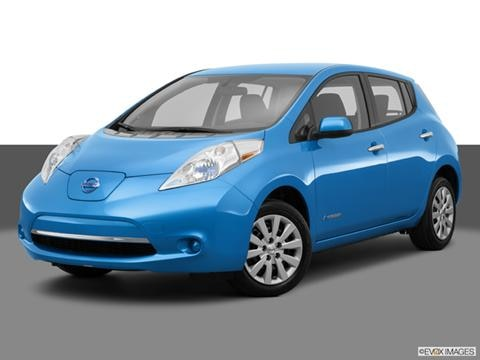 2014 Nissan LEAF 4-door SL  Hatchback Front angle medium view photo