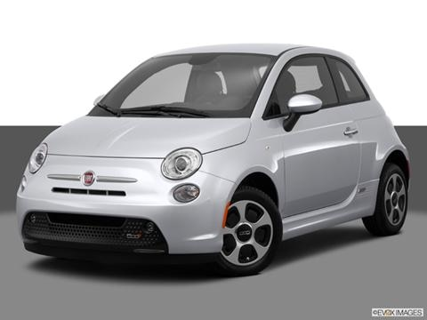 2014 FIAT 500e 2-door   Hatchback Front angle medium view photo
