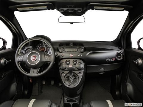 2014 FIAT 500c 2-door Pop  Cabriolet Dashboard, center console, gear shifter view photo